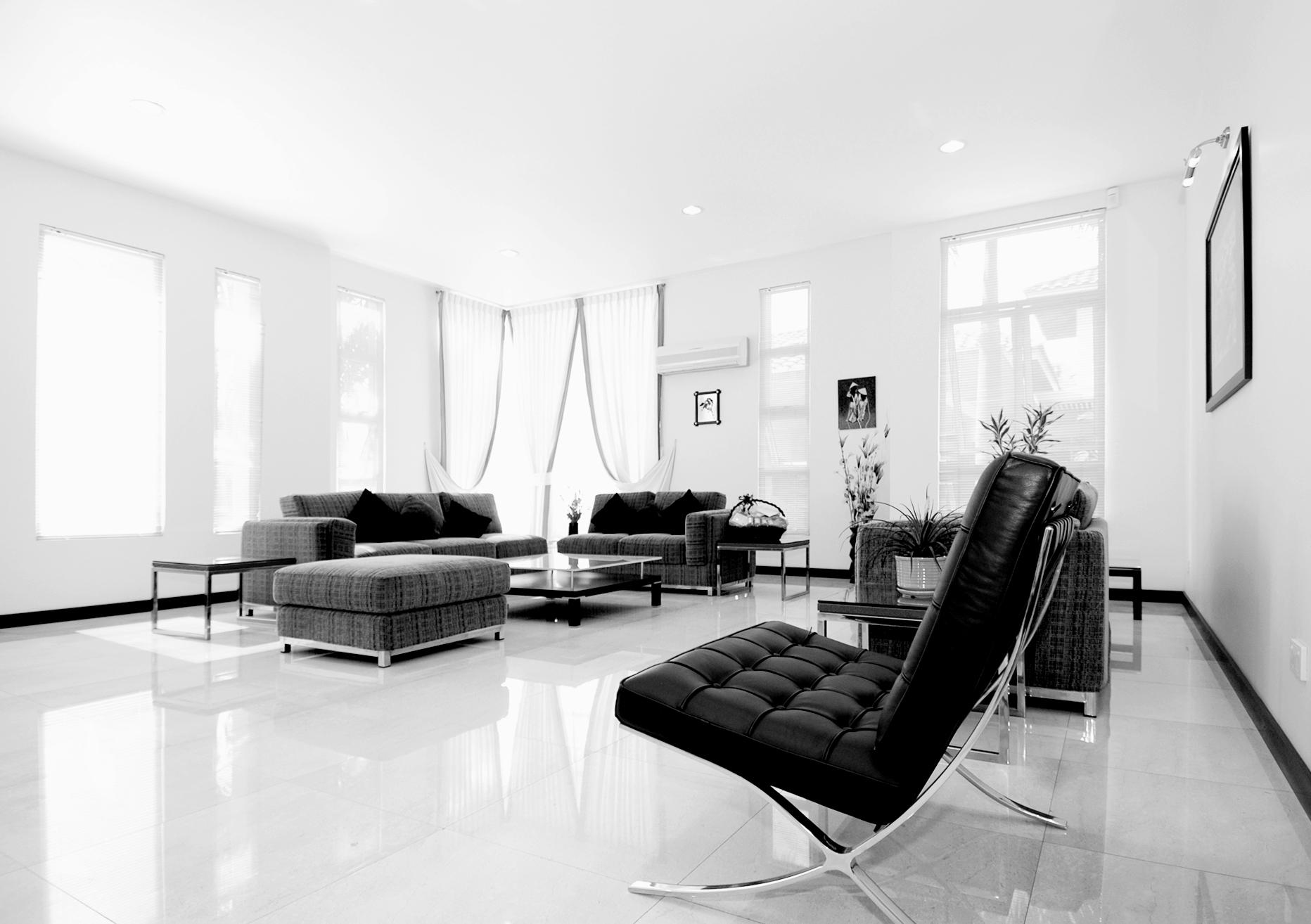 Podwieszany sufit, przytulny pokój